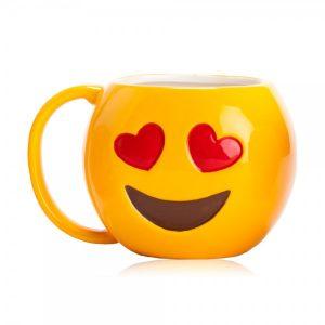 מוג'י לב - ספל מעוצב אמוג'י | בקבוקי שתייה | כוסות | ספלים | כוסות לשתייה חמה