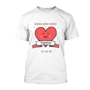 חולצות חתונה מודפסות